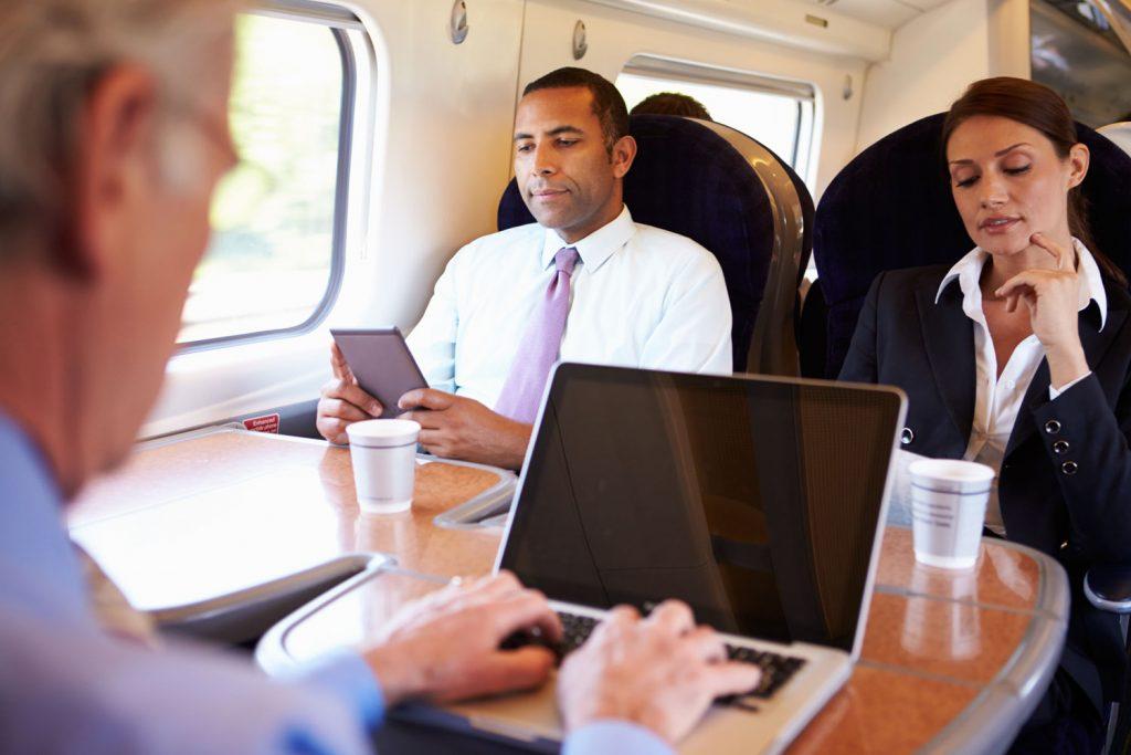 Pellicole privacy in treno
