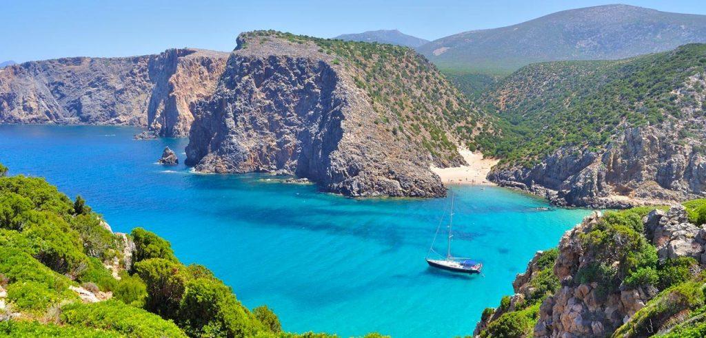 Cala Domestica a Buggerru in Sardegna