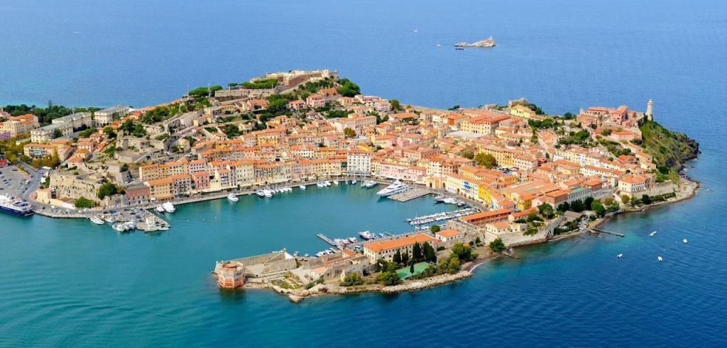 Vista aerea di Portoferraio Isola d'Elba
